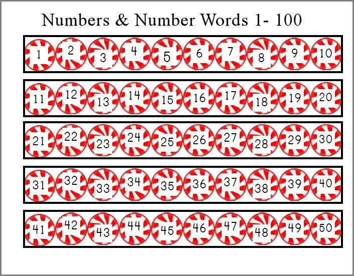 Number Names Worksheets number words 1-100 : 8 Best Images of Free Christmas Number Printable 1 Through 60 ...