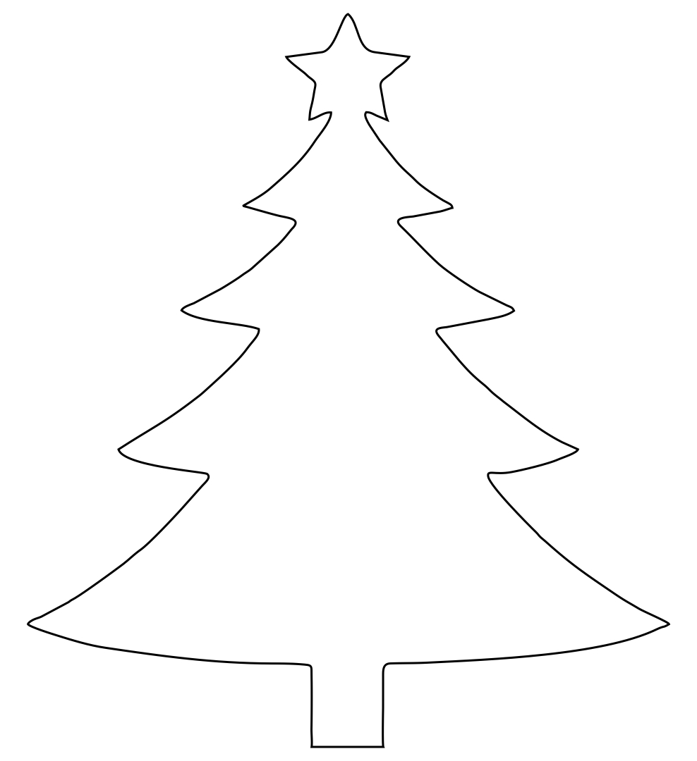 7 Images of Christmas Tree Cut Out Printables