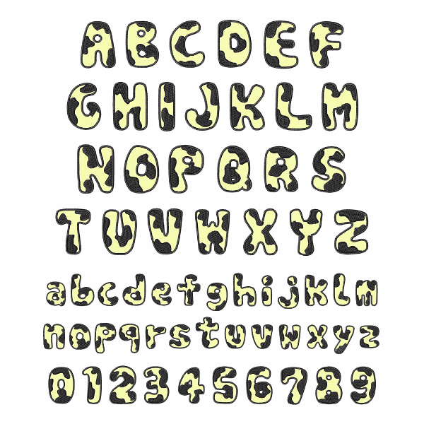 5 Images of Cow Print Alphabet Letters Printable