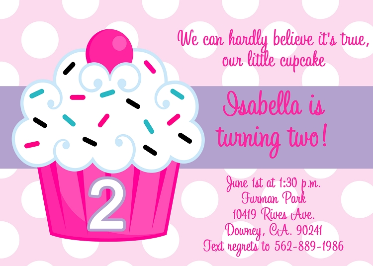 7 Images of Cupcake Birthday Invitations Printable