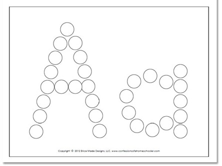 6 Images of Do A Dot Art Letter B Printables