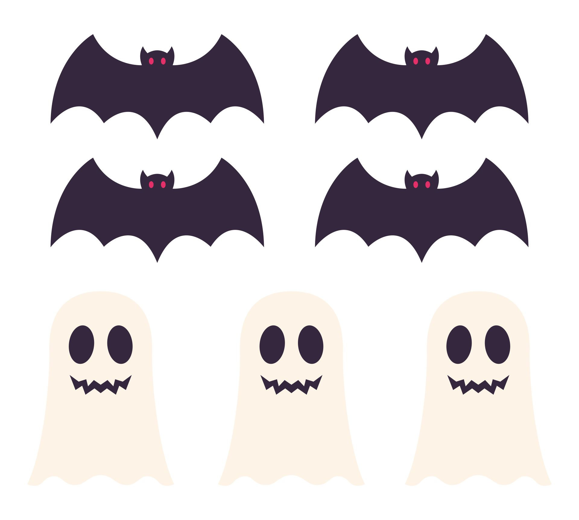 8 Images of Printable Halloween Paper Decor