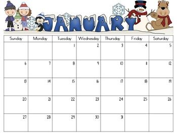 ... Monthly Calendar 2016 Printable and Preschool Monthly Calendar