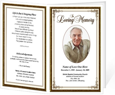 9 Images of Free Printable Funeral Programs