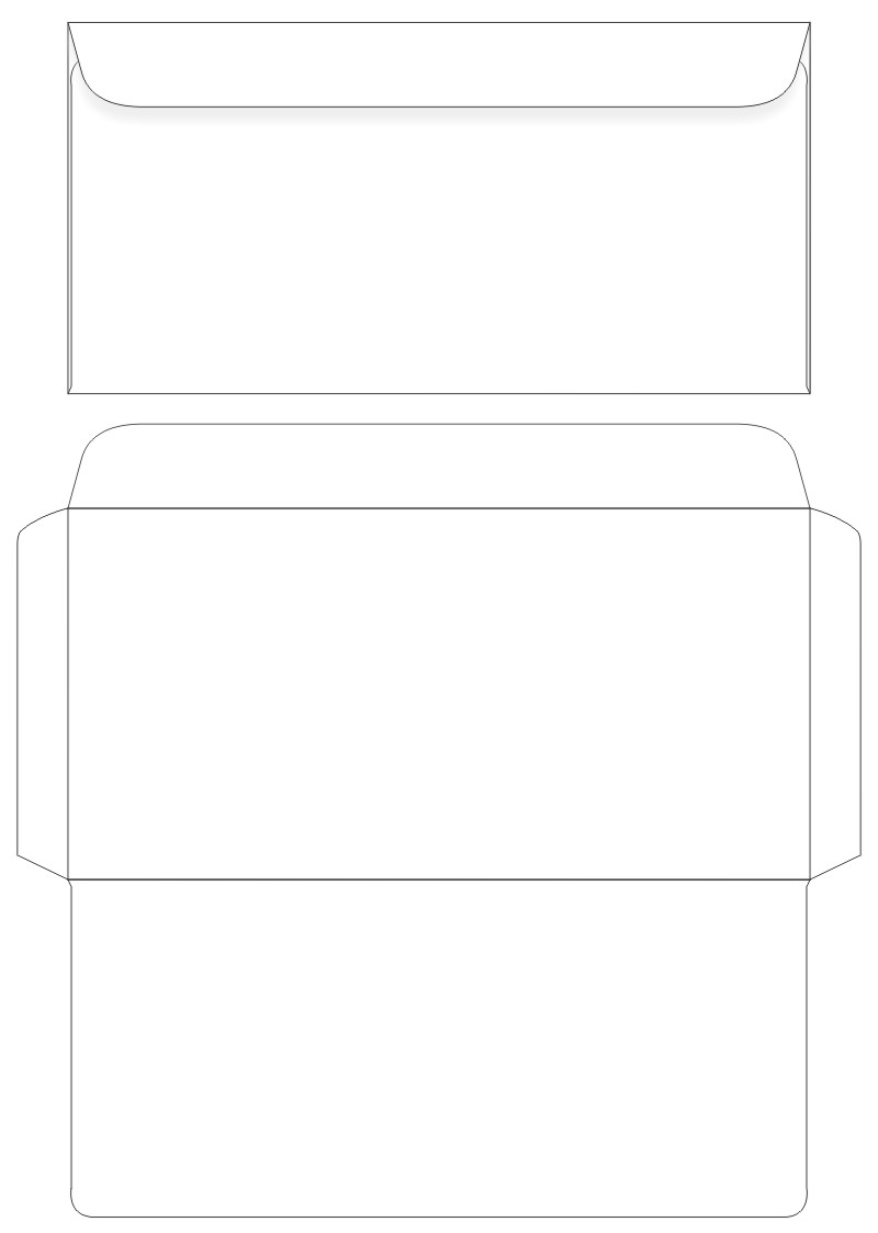 5 best images of envelopes printable template design for Free envelope printing template