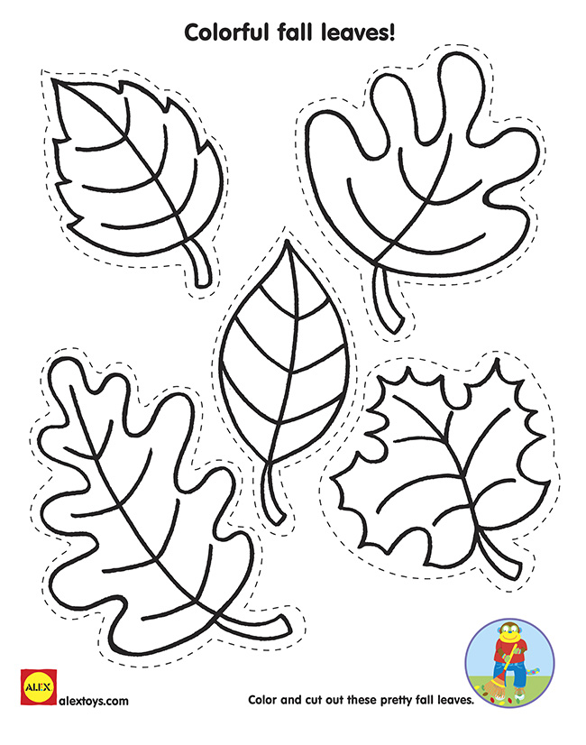 5 best images of free printable fall leaves to color for Autumn leaf template free printables