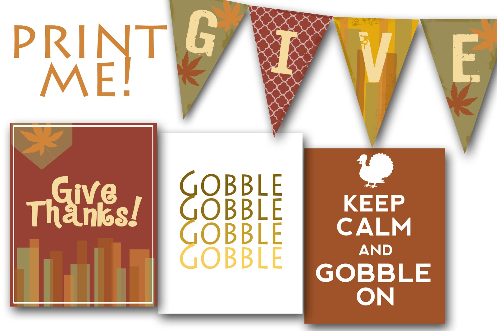 8 Images of Printable Thanksgiving Banners And Posters