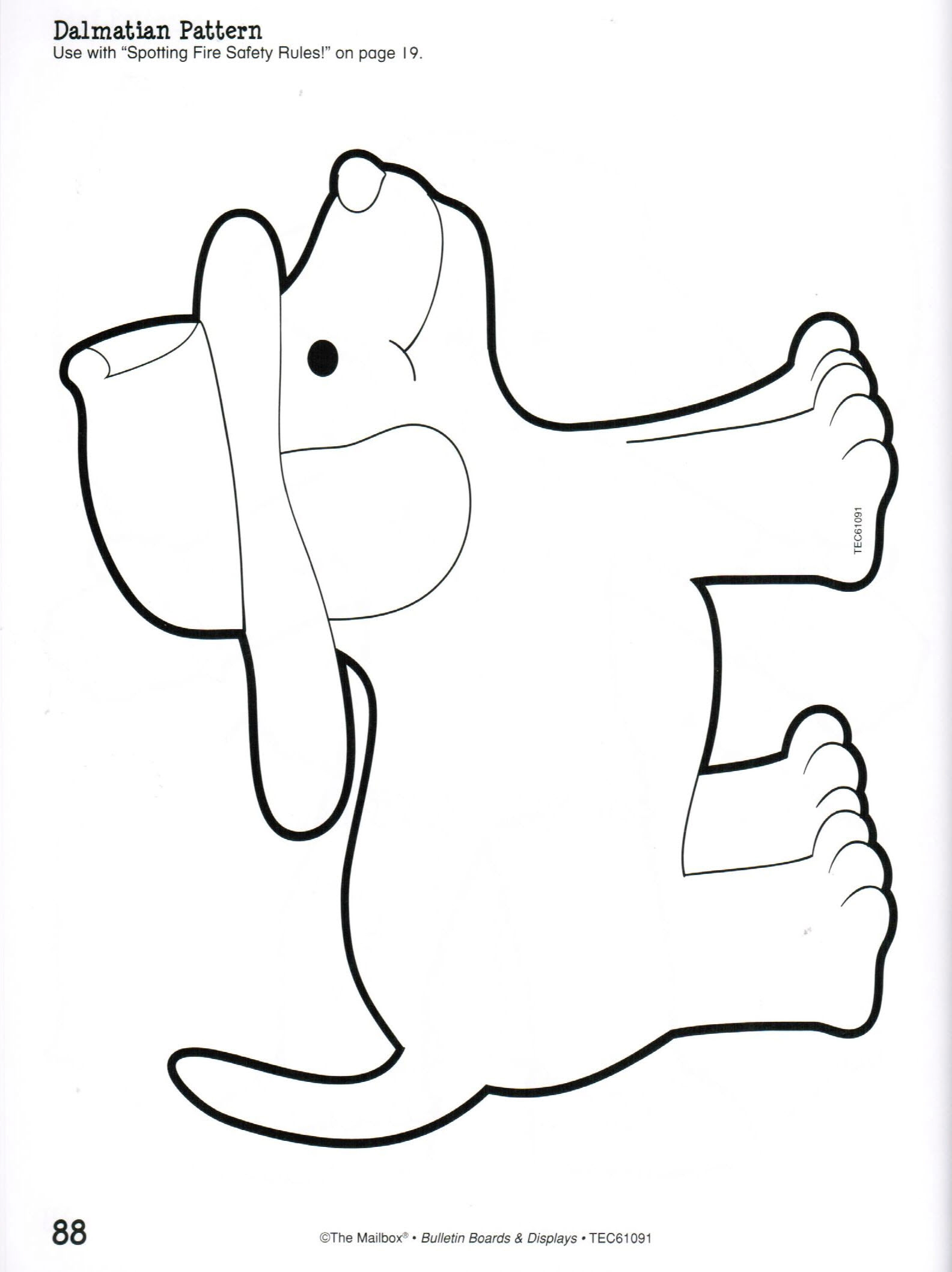 dalmatian fire dog coloring pages - 5 best images of fire dog printable for preschool fire