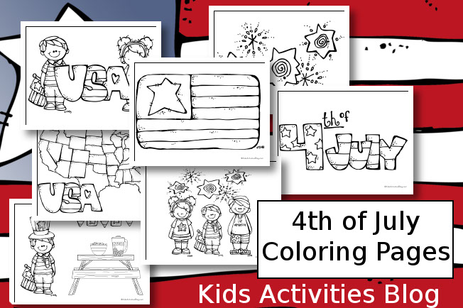 July 4 Coloring Pictures : 4 best images of 4th of july kids activities printable fourth
