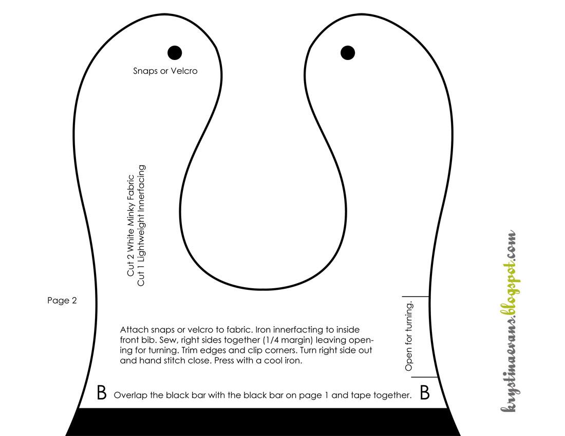 6 Images of Printable Baby Bib Patterns