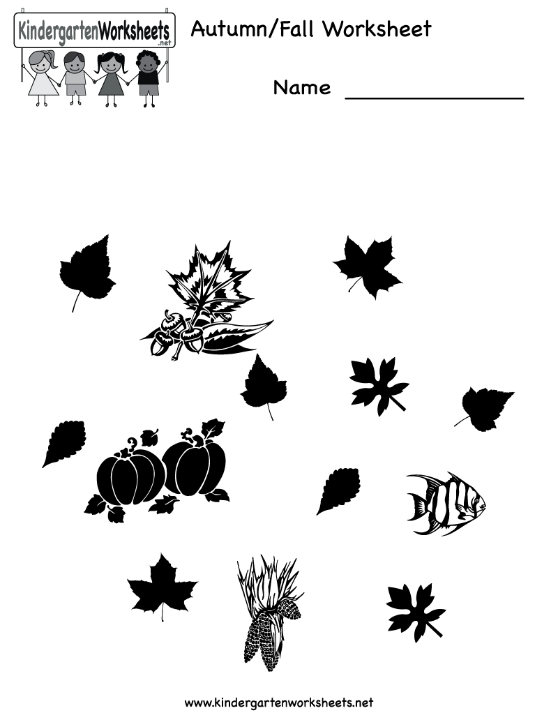 math worksheet : 4 best images of free printable autumn worksheets  free printable  : Fall Worksheets For Kindergarten