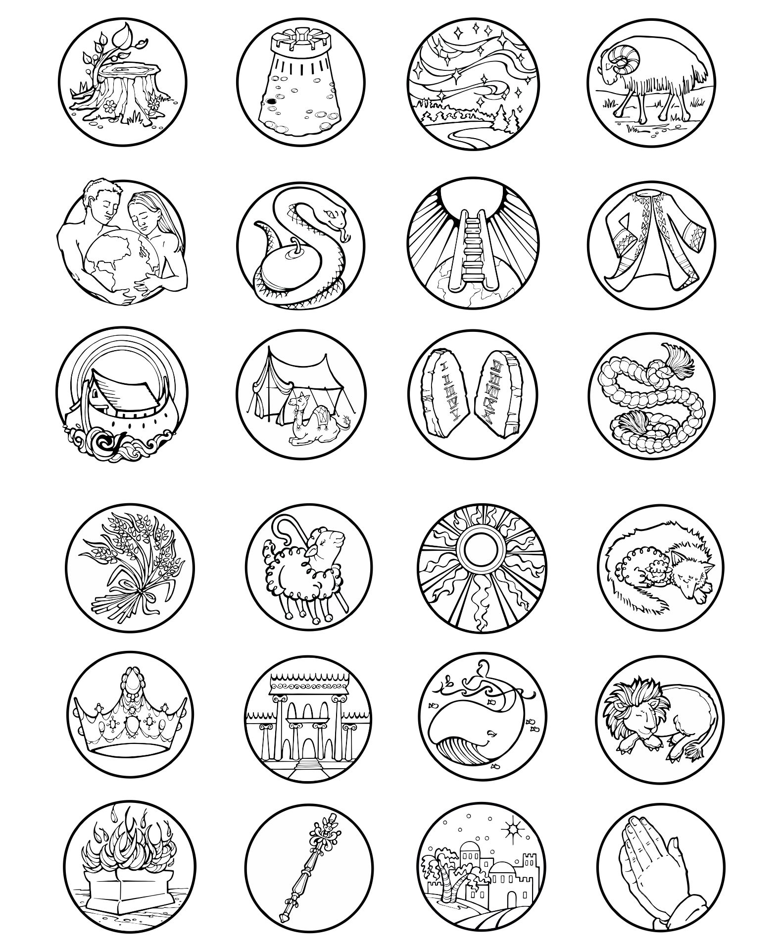 Jesse Tree Symbols