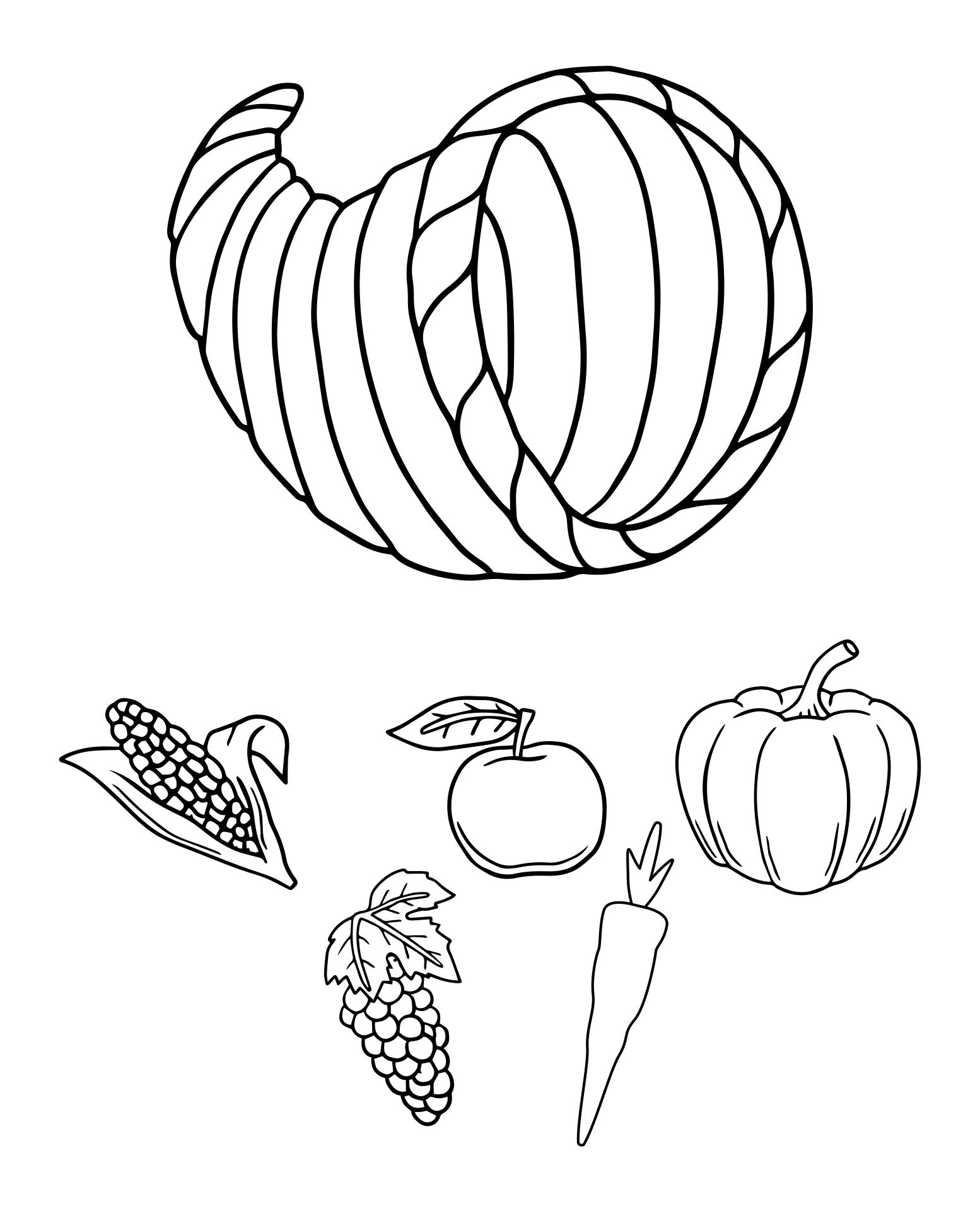 8 Best Images of Cornucopia Fruit And Vegetable Printables ...