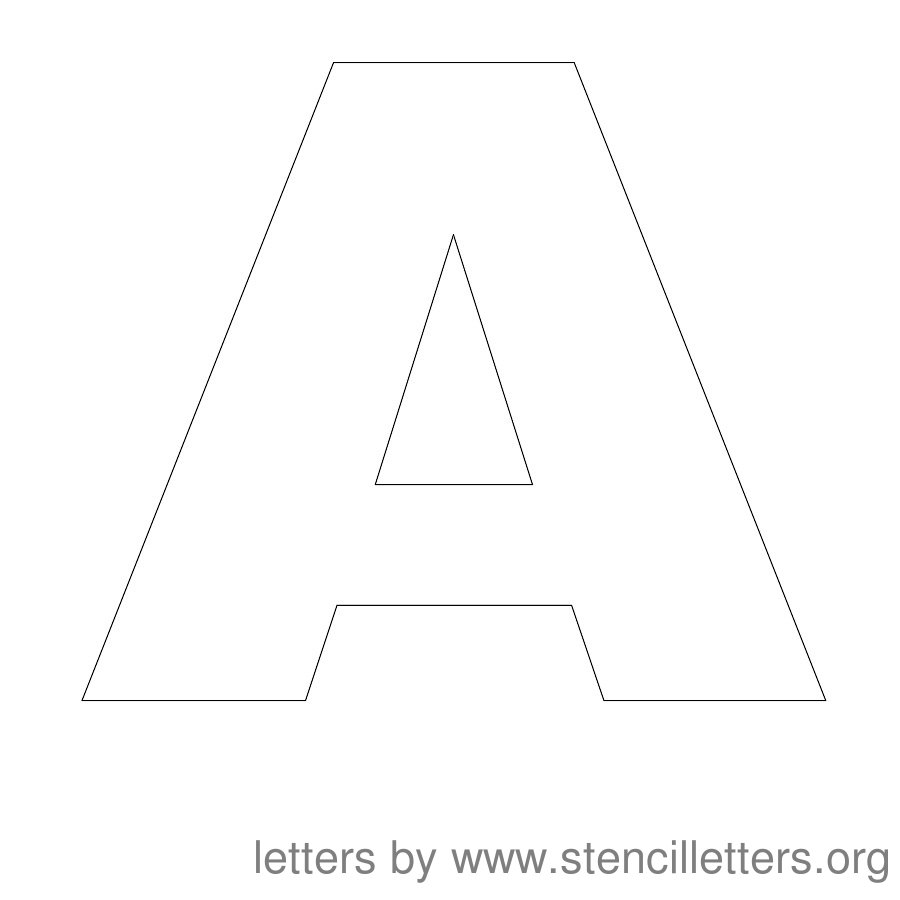 free large printable letter stencils