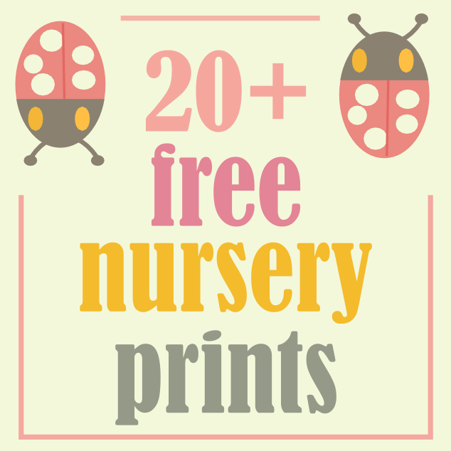 7 Images of Printable Nursery Art