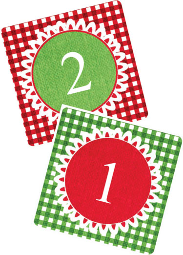 5 Images of Free Printable Advent Calendar Tags
