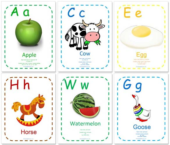 4 Images of Alphabet Wall Printables