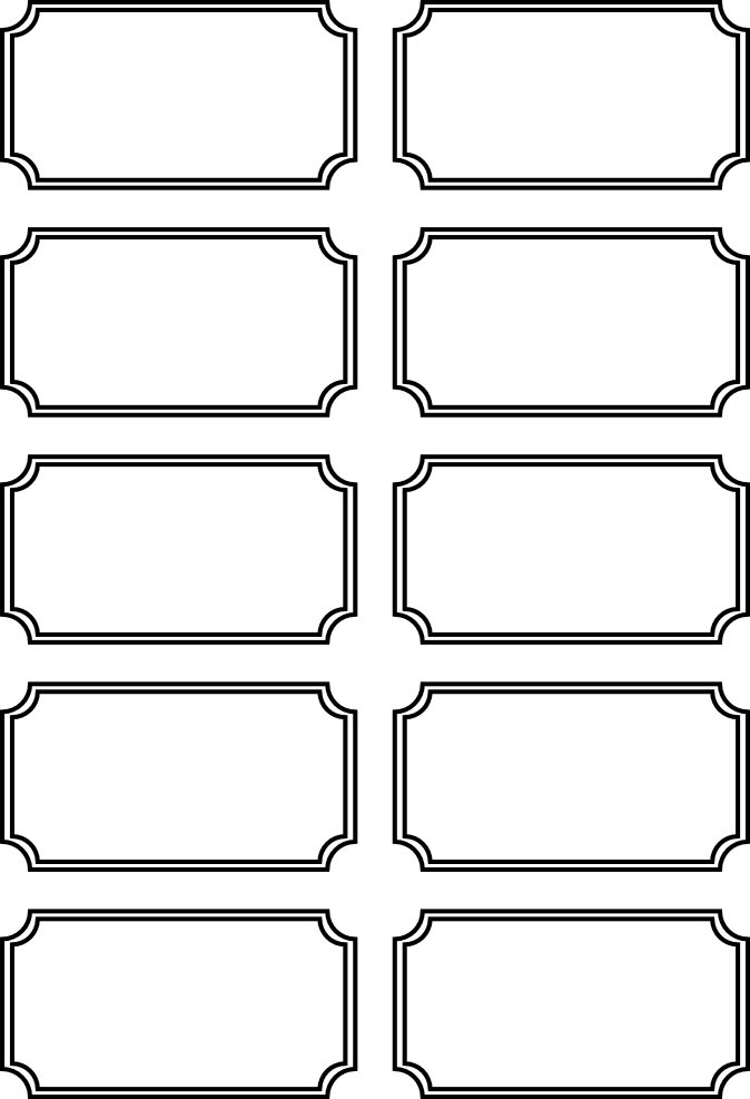 5 Images of Printable Blank Tickets