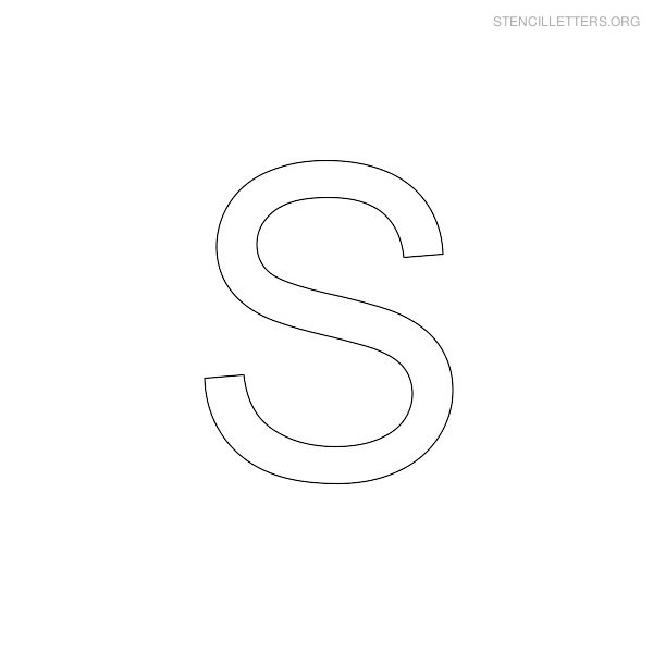 6 Images of Stencil Letters S Printable