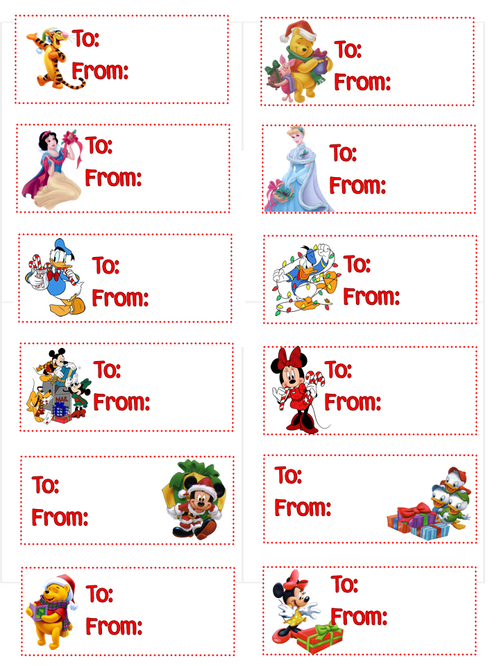 8 Images of Free Printable Christmas Gift Labels