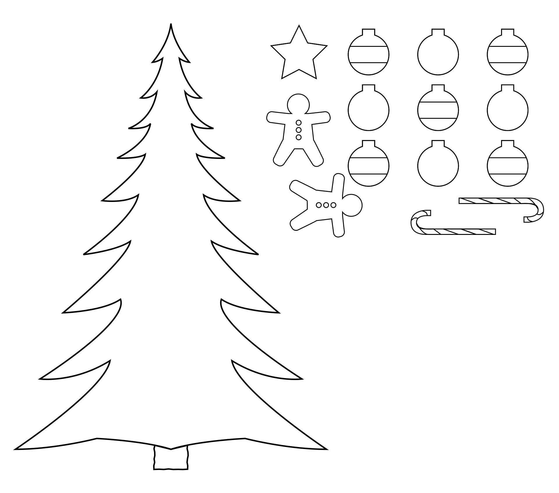Printable Christmas Tree Crafts for Kids