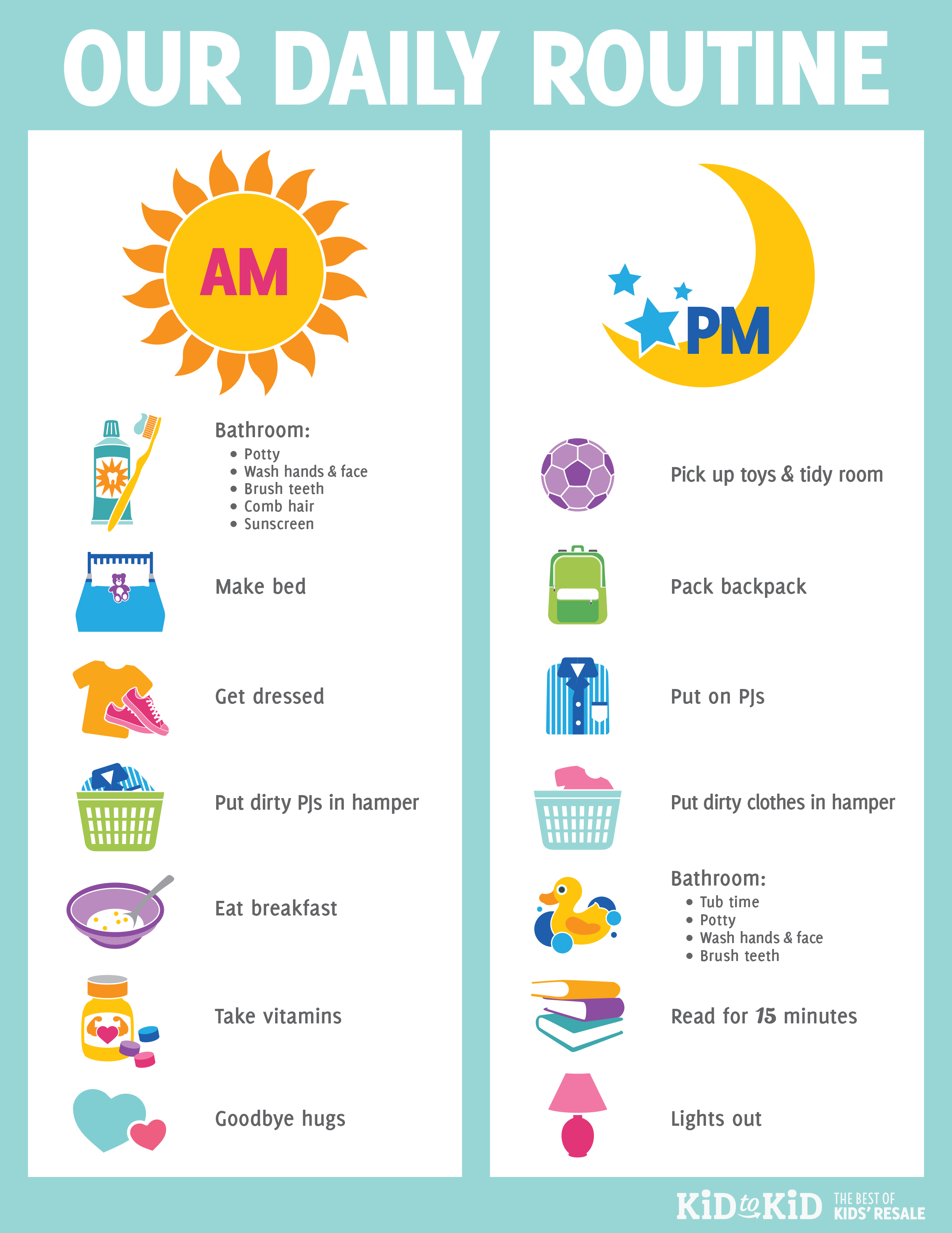 6 Images of Daily Routines Printables