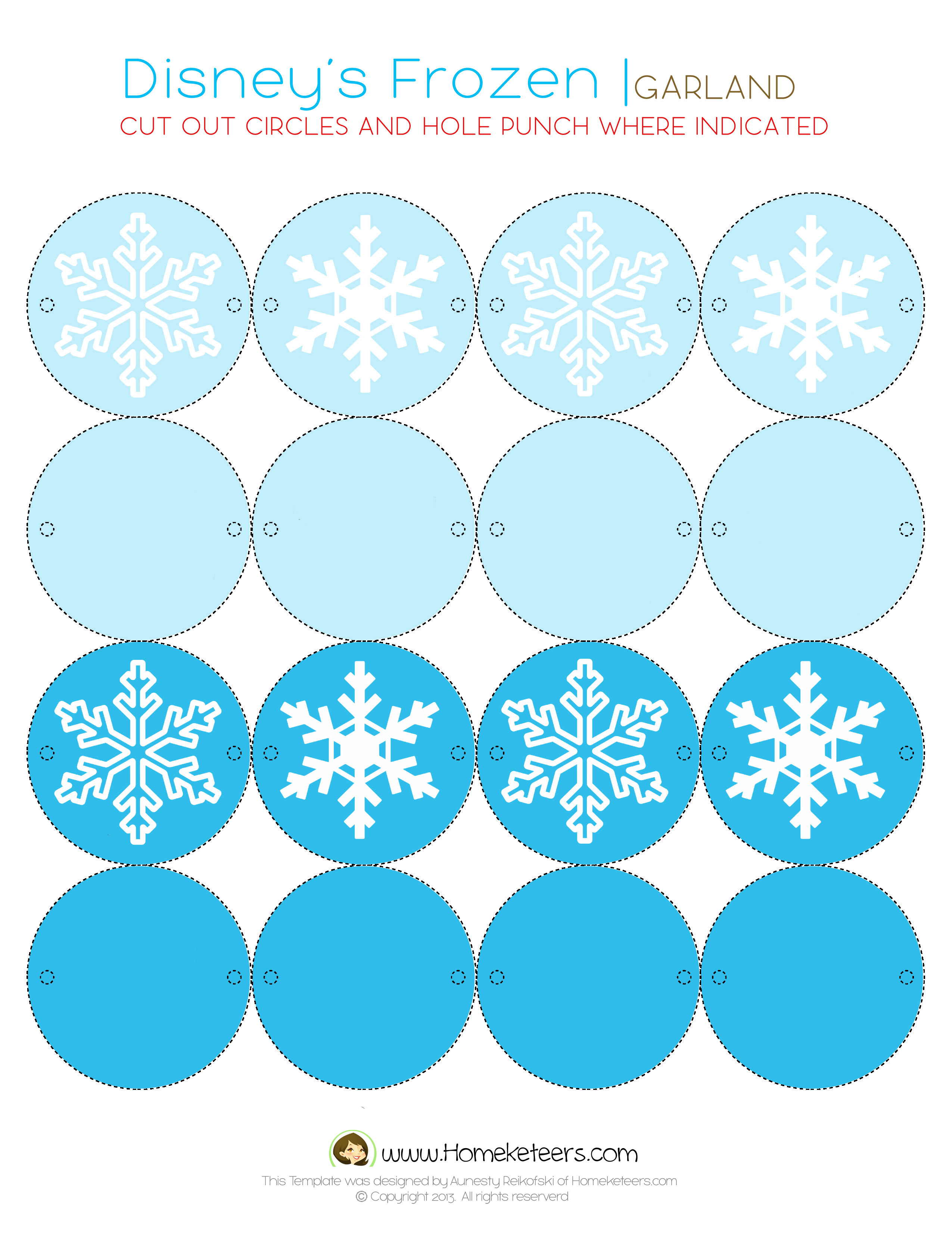 8 Images of Disney Frozen Free Printables