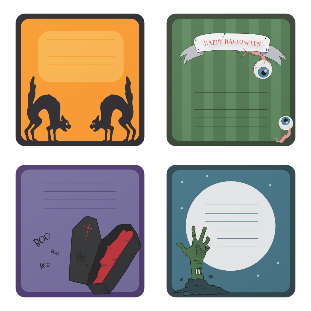 7 Images of Halloween Printable Tags To From