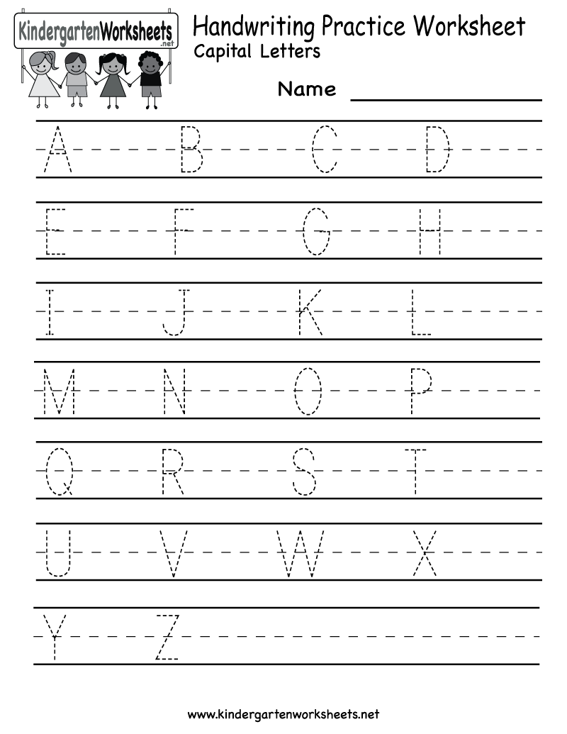 9 Images of Kindergarten Practice Worksheets Free Printable