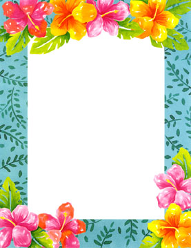 6 Images of Luau Clip Art Free Printable