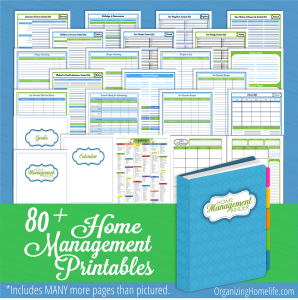Free Printable Home Management Binder Pages