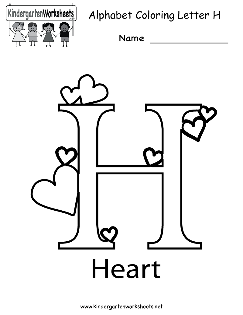 5 Images of Printable Alphabet Letter H Worksheets