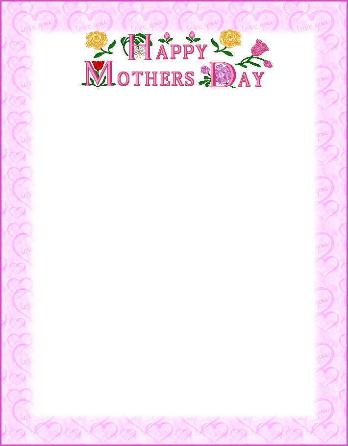 9 Images of Mother's Day Printable Paper