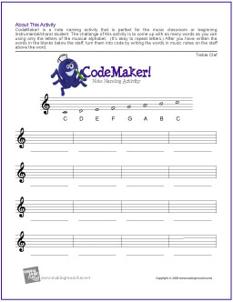 6 Best Images of Free Printable Music Worksheets - Free ...