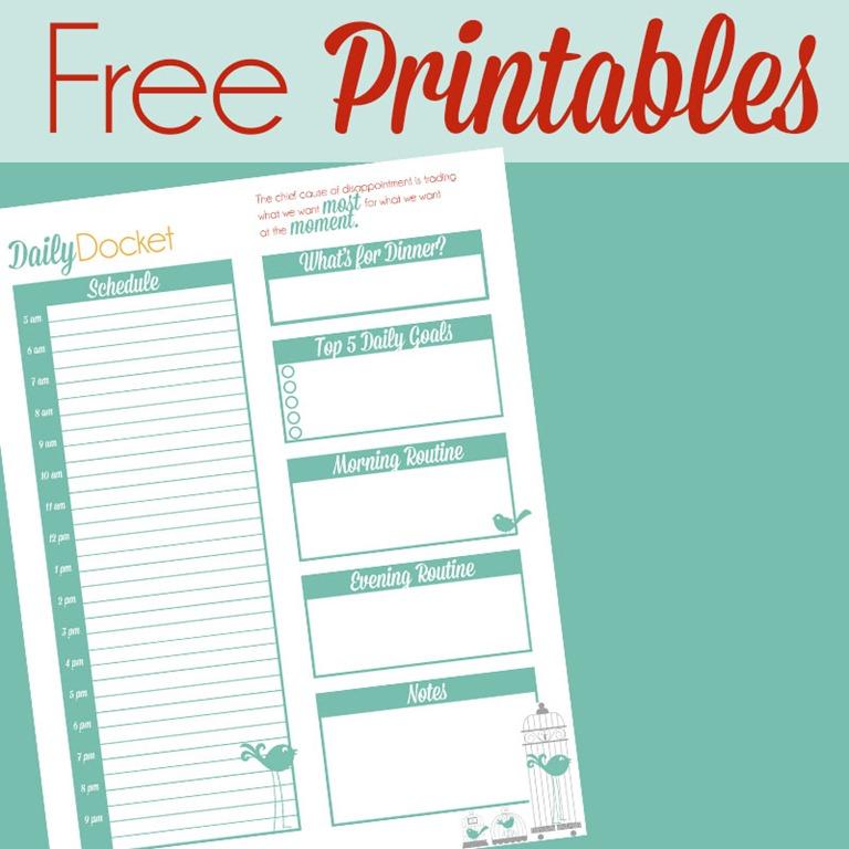 6 Images of Free Printable Life Organizer