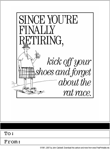 5 Images of Free Printable Retirement Cards