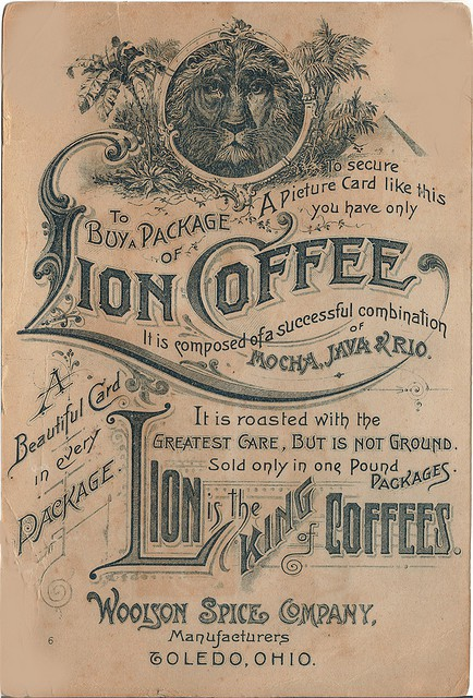 4 Images of Vintage Coffee Can Labels Printable