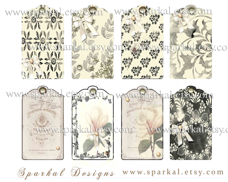 Vintage Wedding Gift Tags : Hang TagsFree Printable Blank Vintage Gift Tags, Printable Hang Tag ...