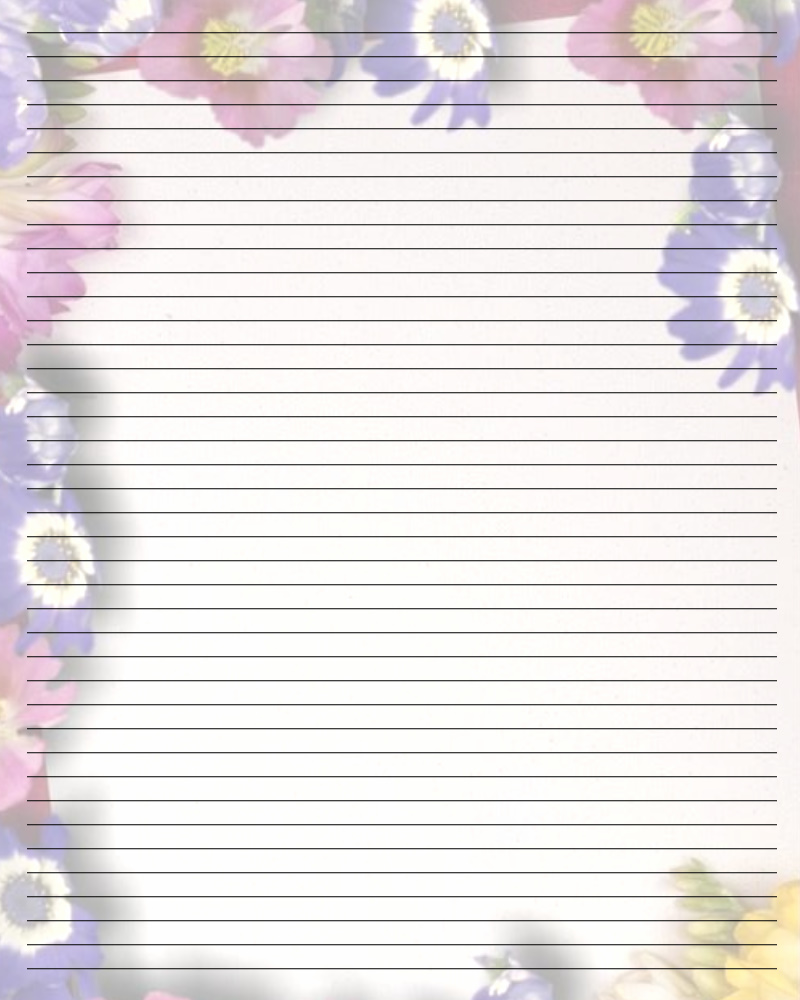 Free printable lined paper for writing