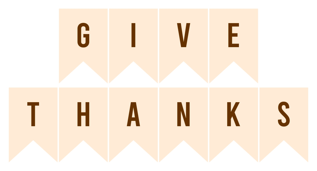 10 Images of Thanksgiving Printable Banners Templates Free