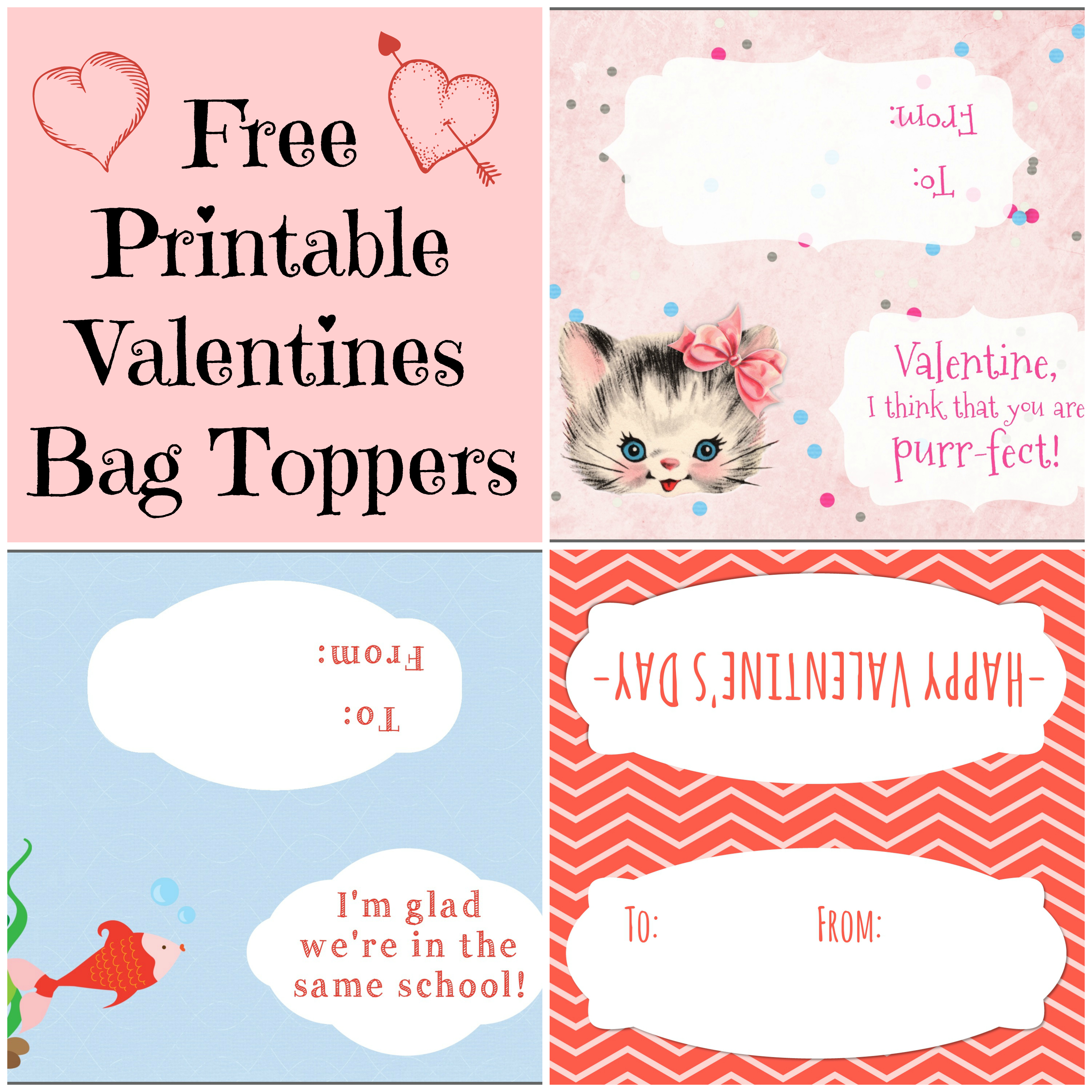 6 Images of Car Free Printable Valentine Topper