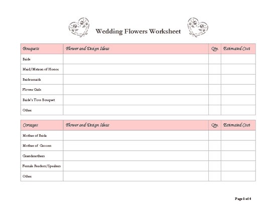 8 best images of free wedding templates printable planners for Free wedding planner templates