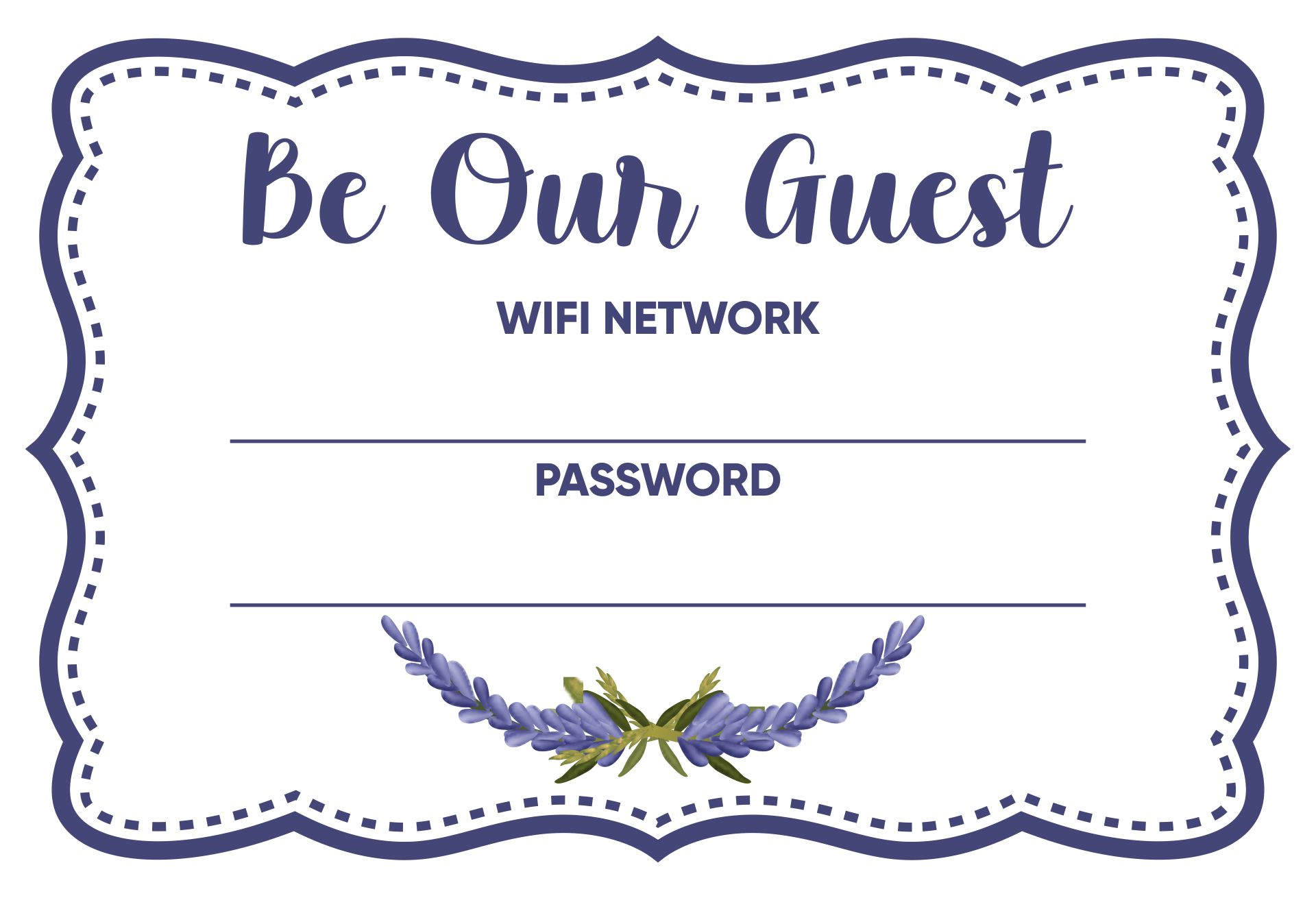 Free Wi-Fi Password Sign