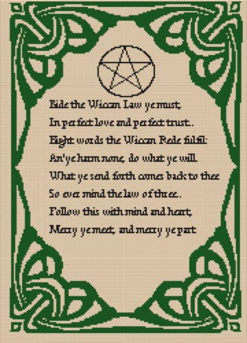 6 Images of Wiccan Printable Patterns