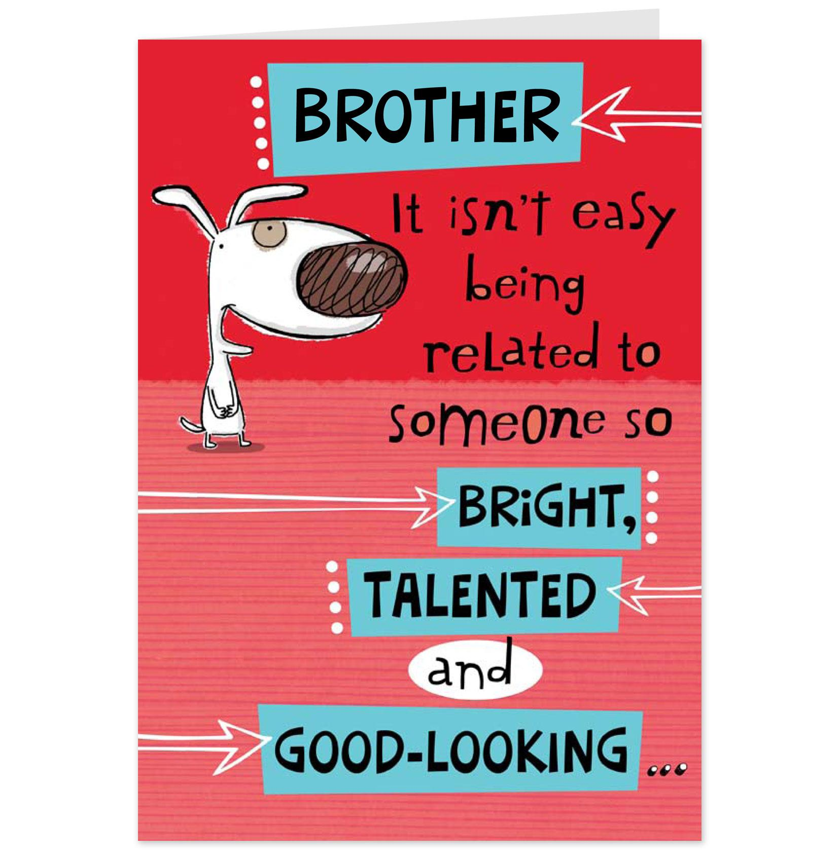 Funny Brother Birthday Cards
