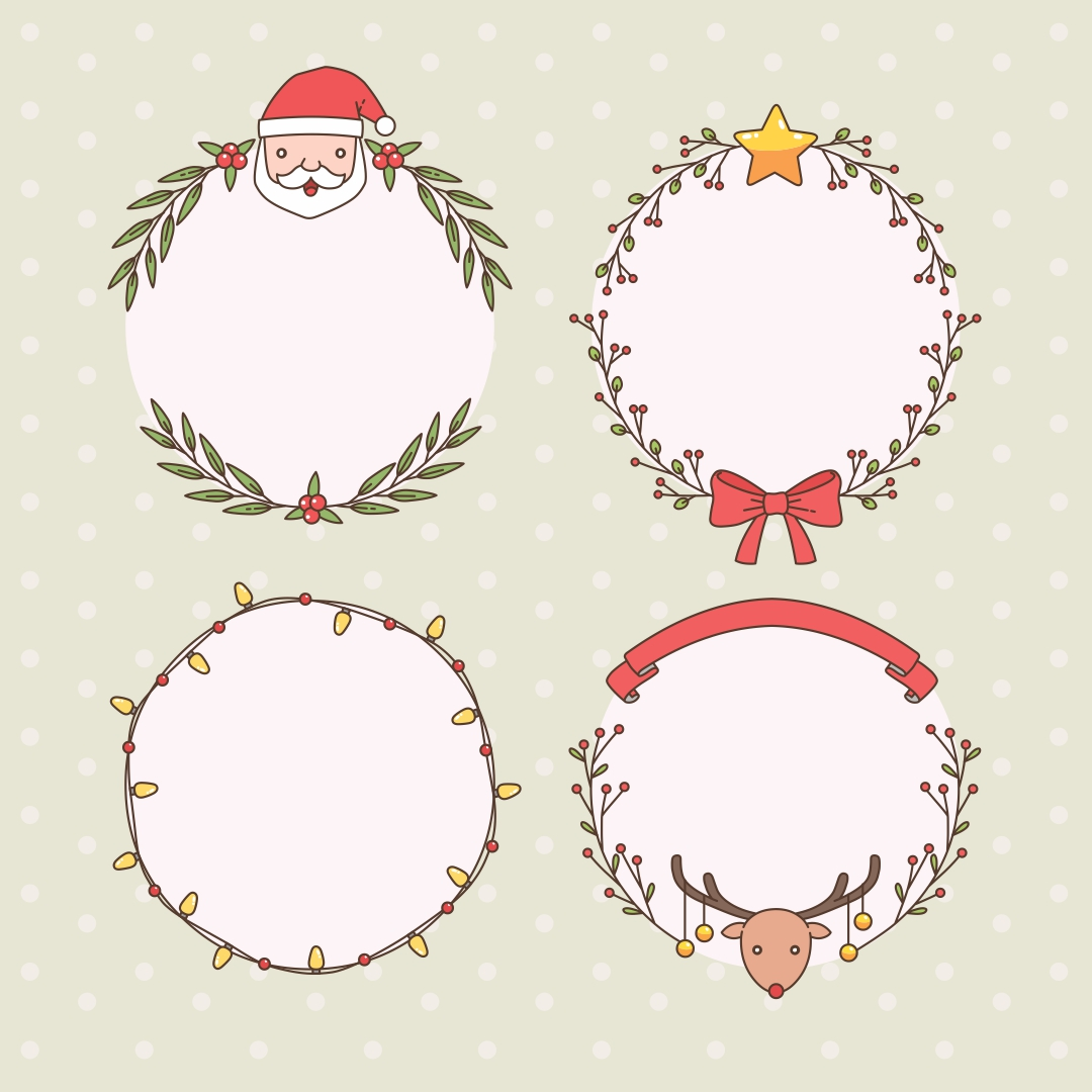 6 Images of Christmas Printable Note Cards