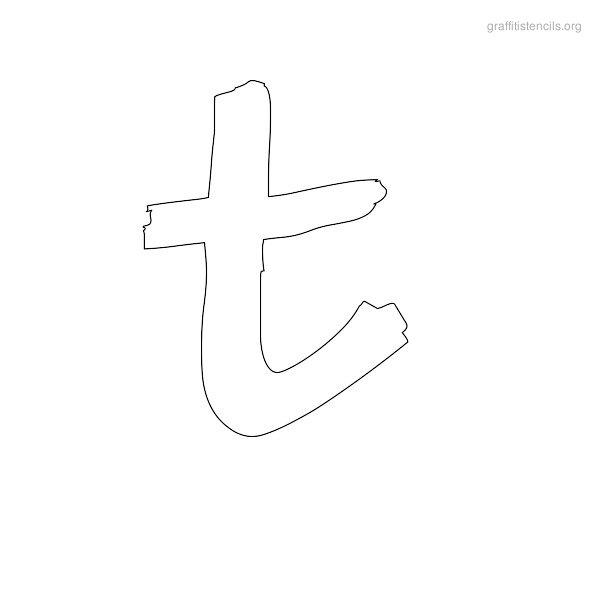 Graffiti Letter T Stencils Printable