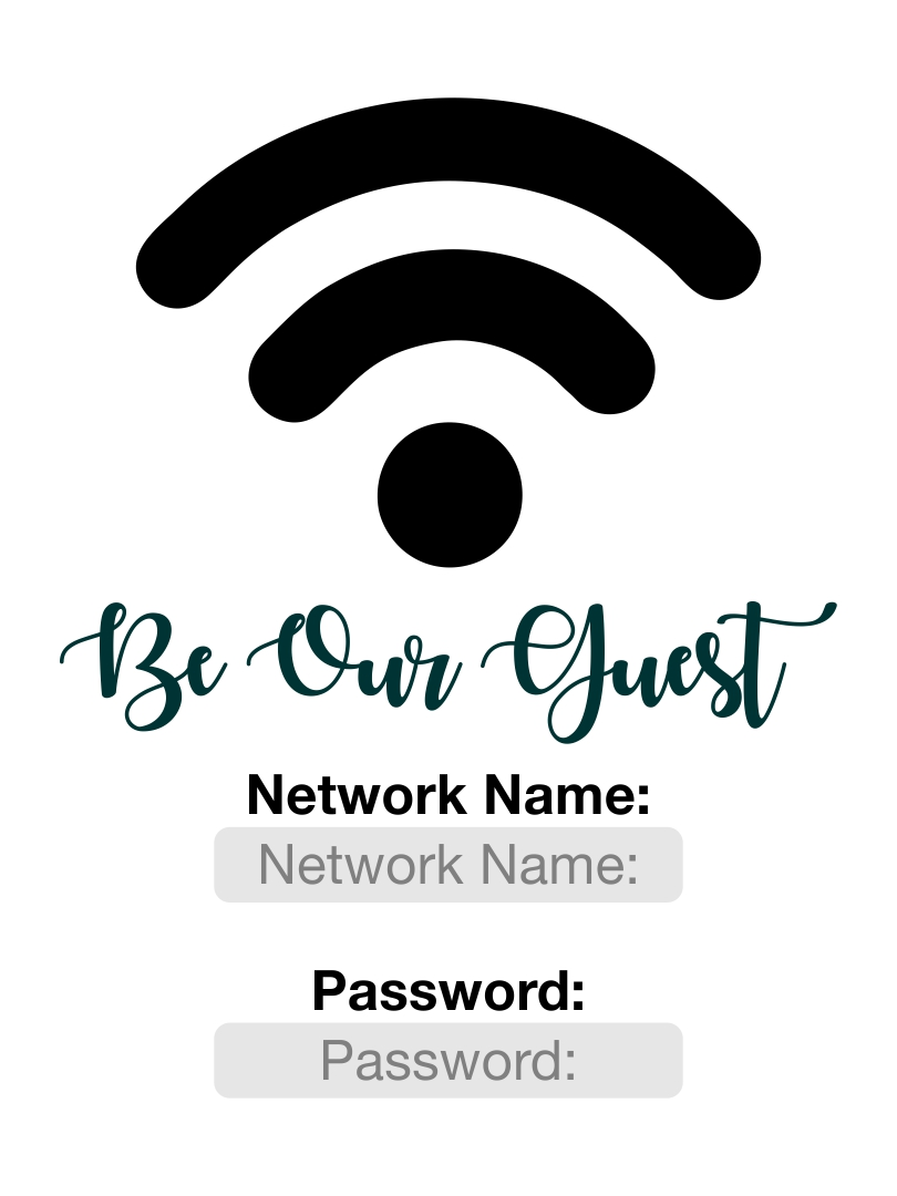 Guest Wifi Password
