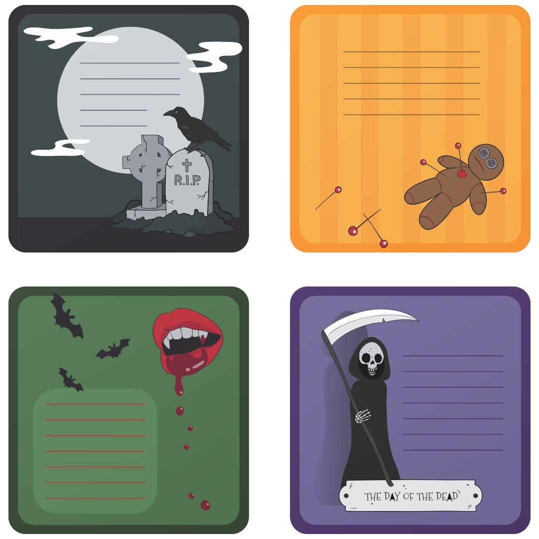 Halloween Name Tags Printables