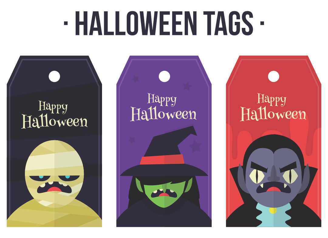 Happy Halloween Tags Printable Free